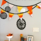 Candy corn pennant