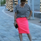 Flattering Post-Partum Pounds & DIY: The Boxy Top and Pencil Skirt