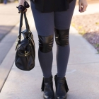 DIY Leather Accent Leggings