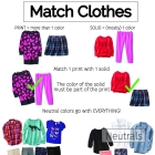 Teach a Child How to Match Clothes - Free Printable!
