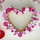 Wooden Dowel Heart Wreath Tutorial