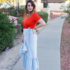 A Fancy 4th of July - Ruffle Skirt DIY