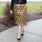 Metallic Gold Skirt DIY with Cricut