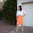 DIY Floral Wrap Skirt