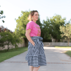 Styling a gingham skirt