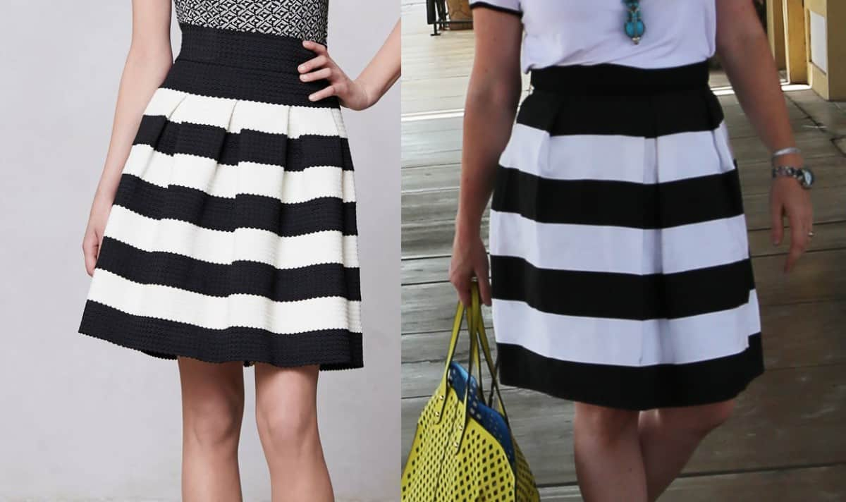 how to cut a bell skirt
