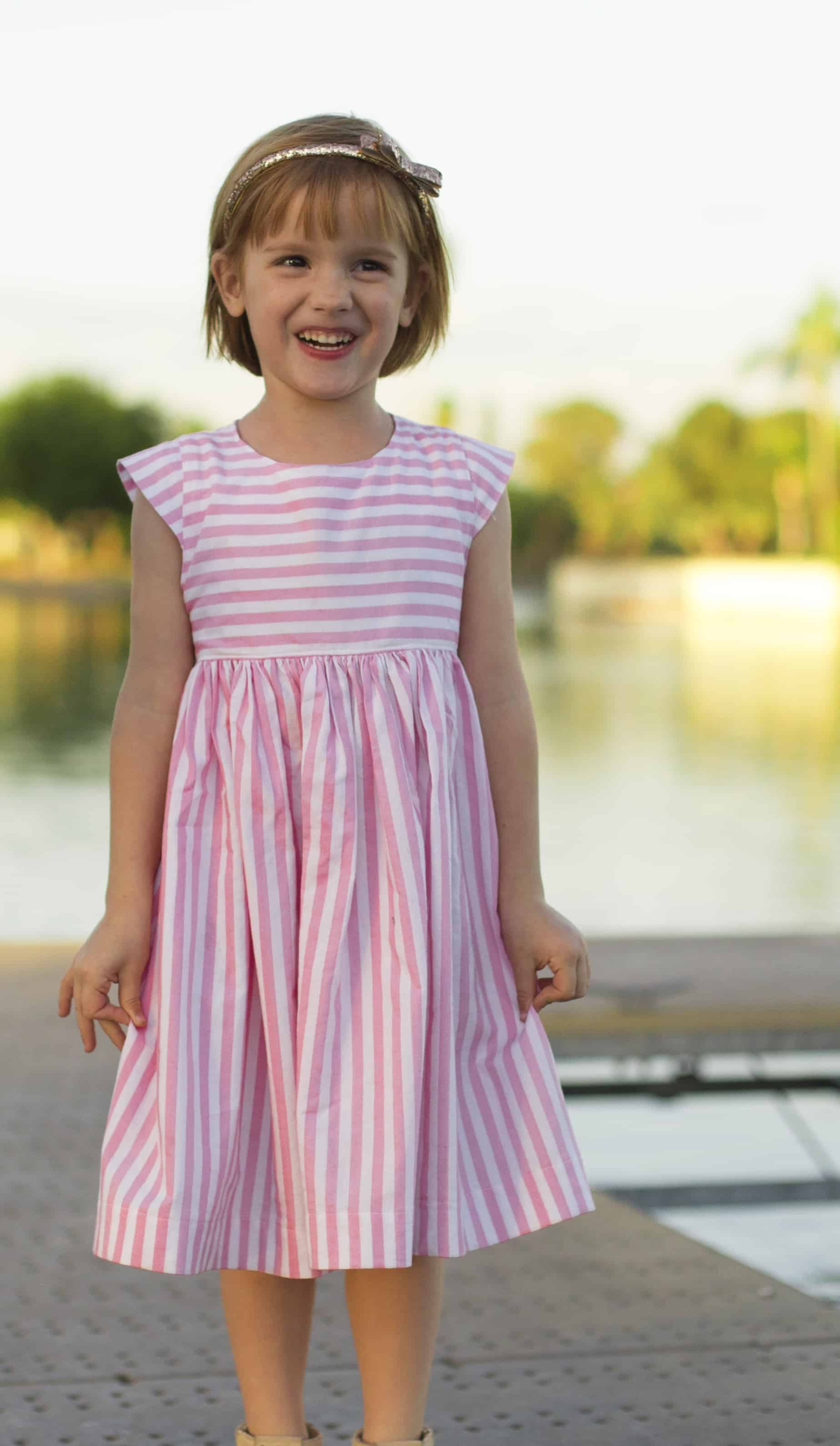Infinite A Line Dress Pdf Sewing Pattern Girls Sizes