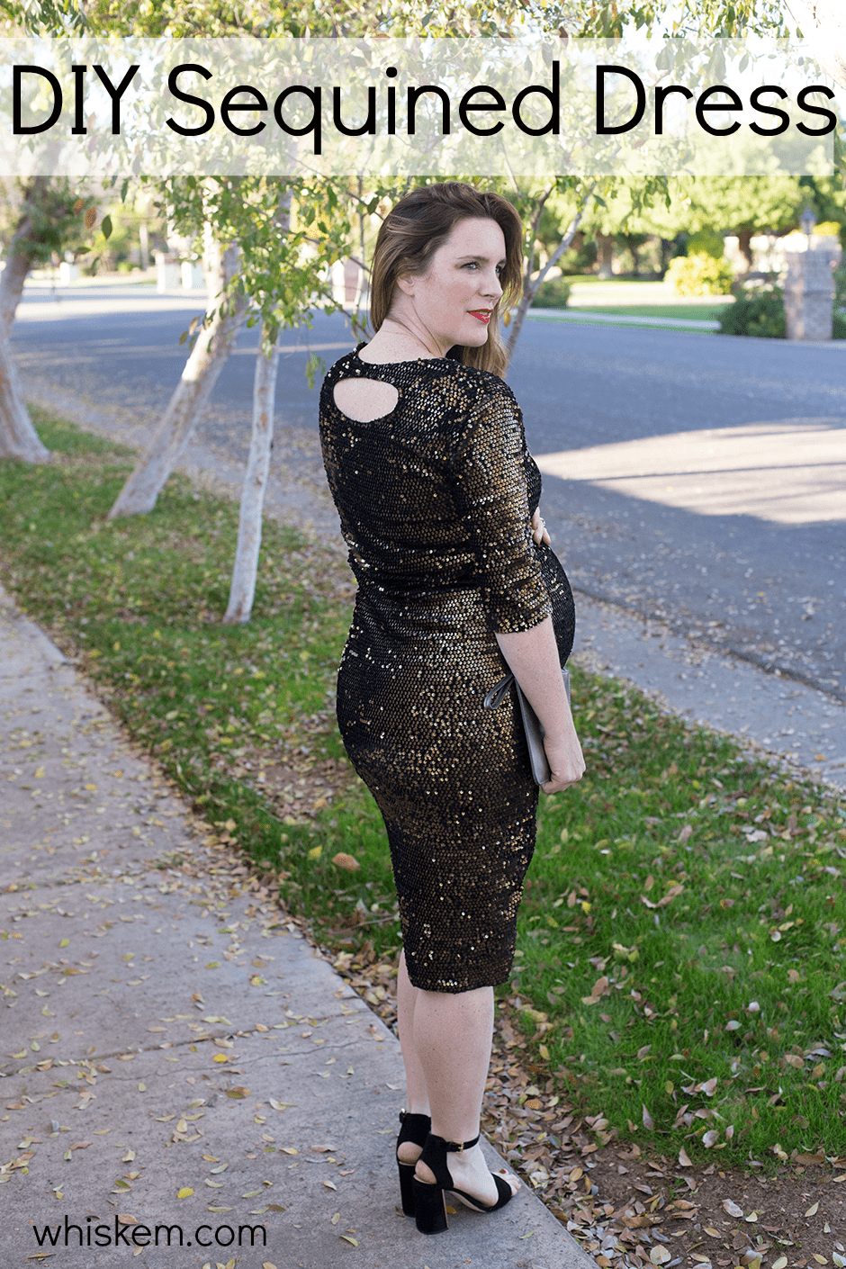 Diy sequined party dress bonnie and blithe for Diy party dress